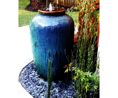 Featuring Fountain installation by- Intown Landscape