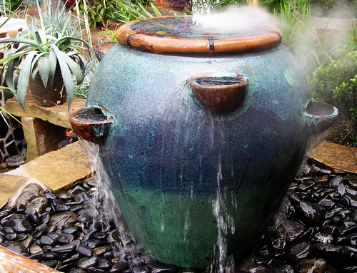 Phenomenal Strawberry Pot Fountain- Intown Landscape