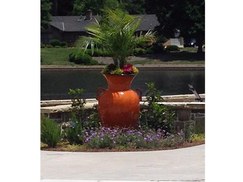 Fiesta orange urn